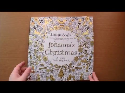 johannas christmas by johanna basford colouring book flip through