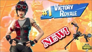 "*NEW* BIKER SKINS ""CHOPPER SKIN & ""THROTTLE PICKAXE"" GAMEPLAY! (Fortnite Battle Royale)"