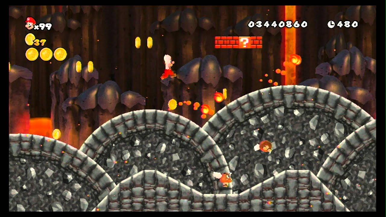 New Super Mario Bros  Wii 100% Walkthrough Part 16 - World 8 (8-1, 8-2,  8-3) All Star Coins