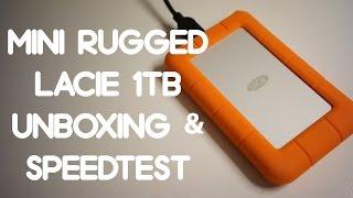 LaCie 1TB Rugged Mini Unboxing & Speedtest