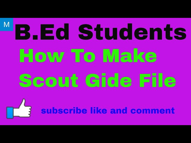 How to Make B.Ed Scout Guide File | Scouting & Guiding File | B.Ed | B.Ed exam file |