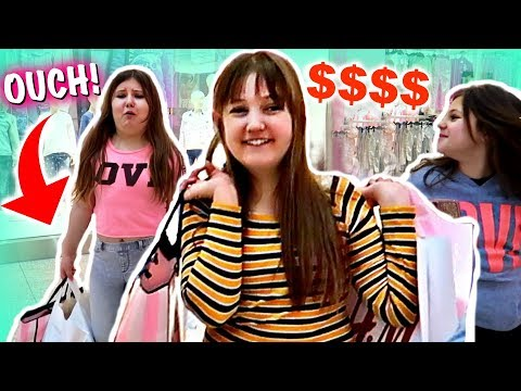 3 BFF NO BUDGET AT THE MALL BUT ONLY WHAT THEY CAN CARRY THEMSELVES! ~ Justice H&M Bath & Body Pink