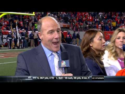 Bob Costas Gets Videobombed by Denver Broncos Junior Cheerleaders - NFL Photobomb