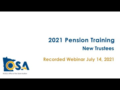 Pension Training 2021 New Trustees