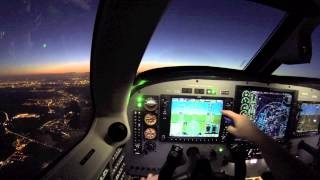 ✈ IFR navigation from Belgium to France with a Piper Meridian