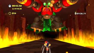 Sonic Lost World (Wii U): Lava Mountain - Zone 4 - Time Attack (1:26.62)