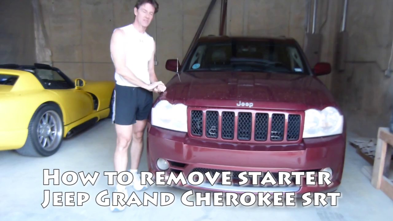 How To Remove Starter From 4wd Jeep Grand Cherokee Srt 61l Youtube Solenoid Diagram 06 Dodge Charger On 5 7l Motor