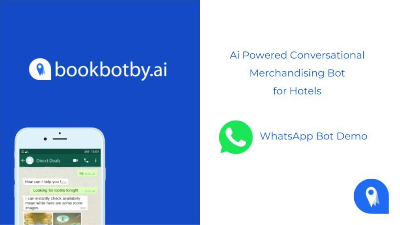 BookBotBy ai WhatsApp Bot Rooms Demo