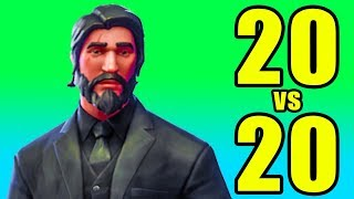 NEW Fortnite 20v20 Mode! 12 WINS! ⚠️ Fortnite Battle Royale 20v20 PC Gameplay