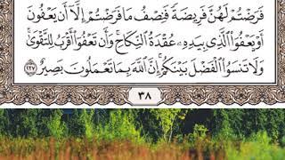 حفظ سورة البقرة الصفحة 38 بصوت القارئ ماهر المعيقلي