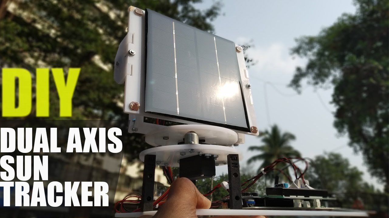 Dual Axis Solar Tracking System with Weather Sensor Solar Project ECE