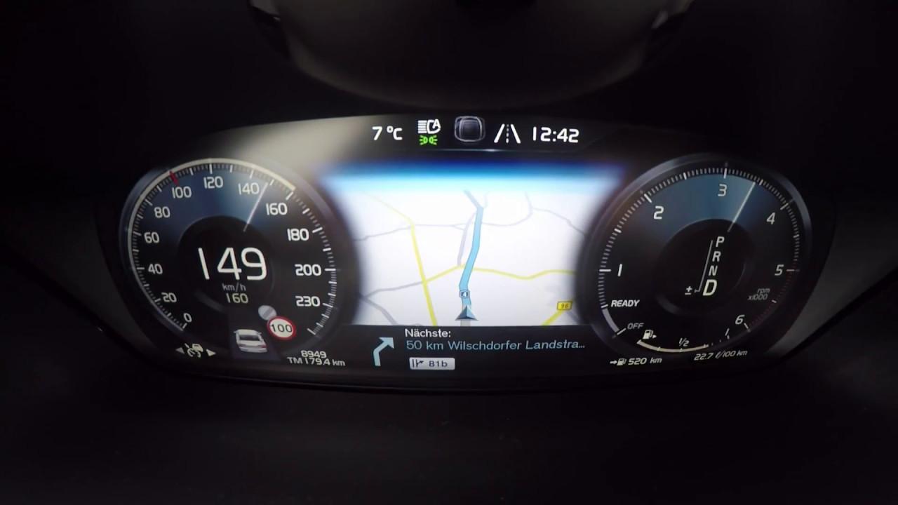 Volvo S90 HUD, Sensus, Cockpit - YouTube