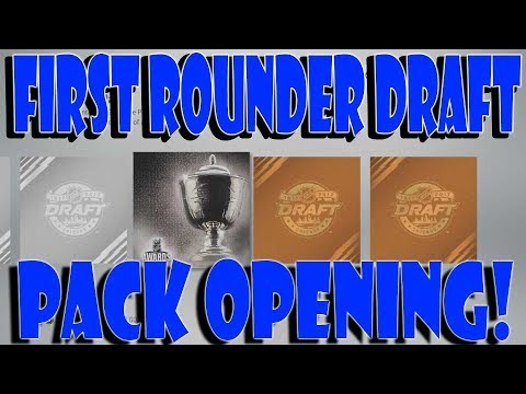 NHL 17 HUT First Rounder Draft Pack Opening