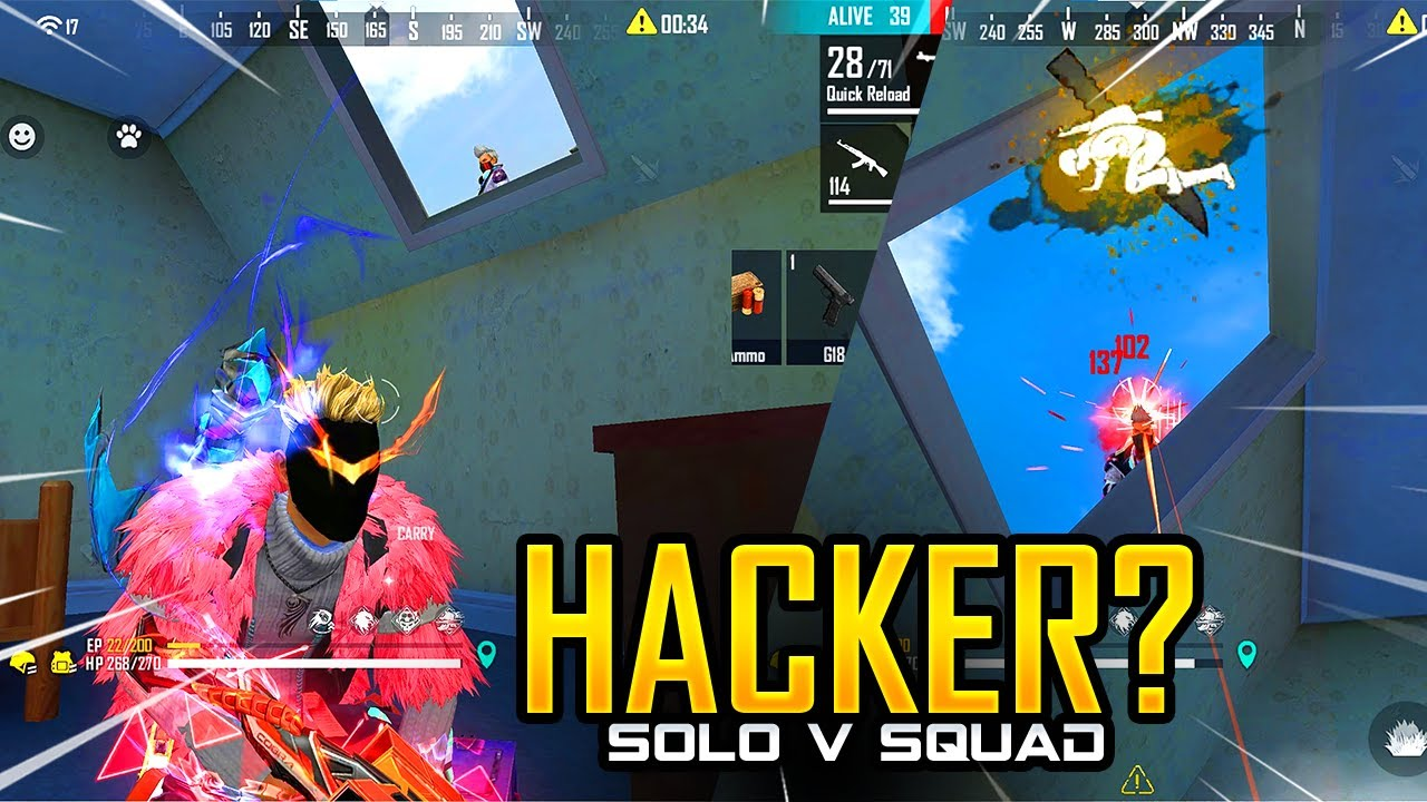 Download Hacker? Solo vs Squad Only HeadShot Challenge - Garena Free Fire- Total Gaming