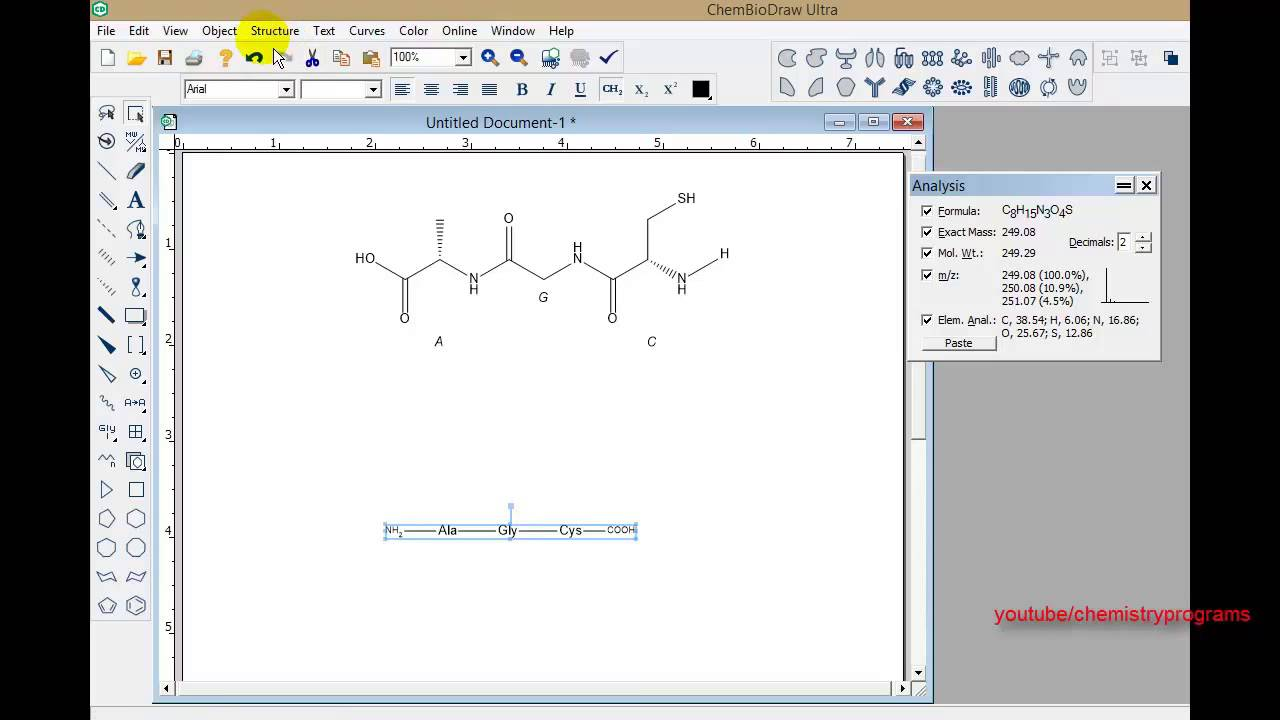 Chemdraw Tutorial 11 Draw Protein And Dna Youtube