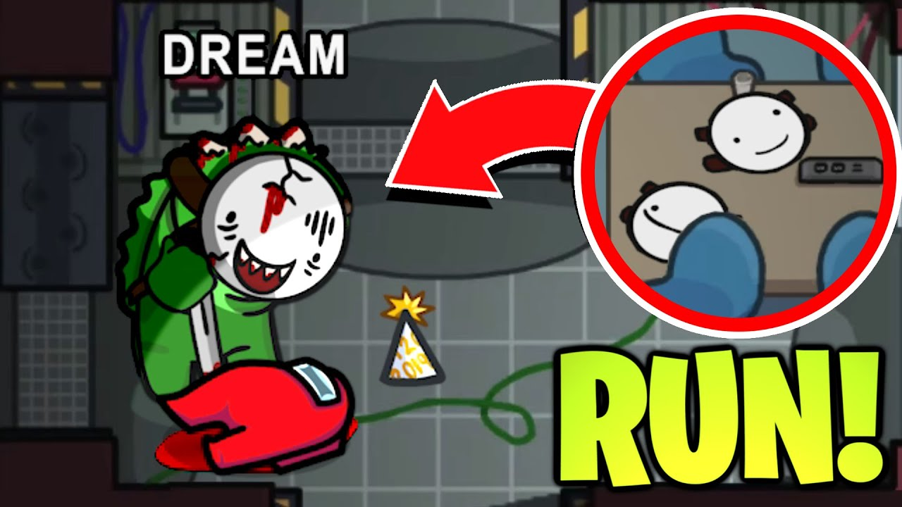 Imposter Stole FAKE DREAMS MASK In Among Us! (We Had To Run Away)
