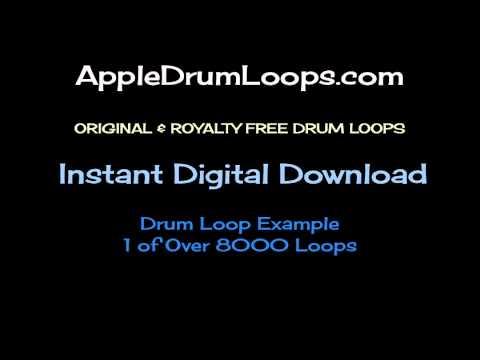 Individual Drum Loop Example Apple Loops Drum Loops GarageBand Logic Pro 12