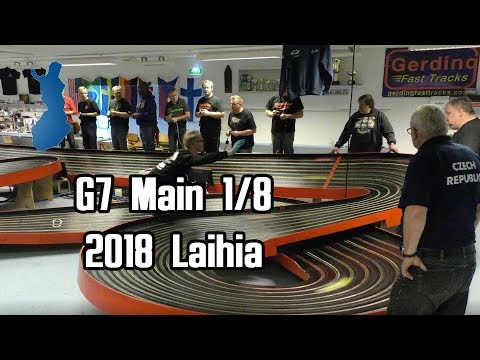 G7 Main 1/8 Slot car racing European Championship 2018 [4K]