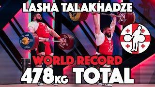 Lasha Talakhadze 478kg All Time World Record Total (218kg + 260kg) [4k]