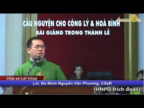 Bài giảng trong Thánh lễ cầu nguyện cho Công Lý & Hòa Bình