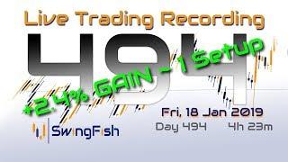 LIVE Day Trading Forex & CFD [Fri 18 Jan 2019 | +1.51% | 1 Setup]