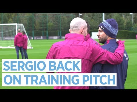AGUERO BACK ON TRAINING PITCH | Man City Training