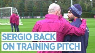 AGUERO BACK ON TRAINING PITCH | Man City Training