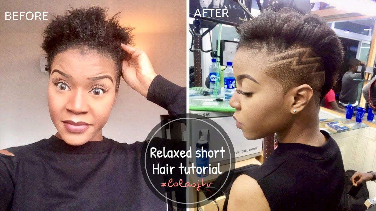 Relaxed short hair tutorial   How I style my hair