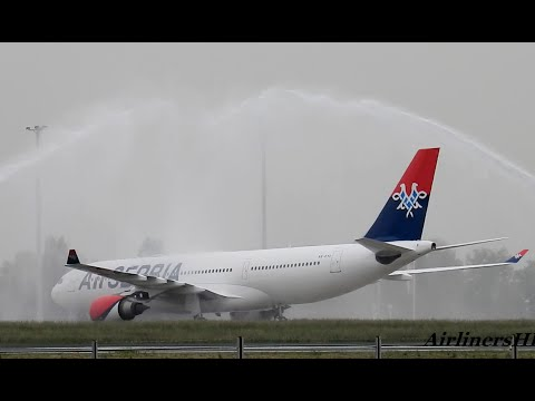 Air Serbia Airbus A330 - Delivery Flight - Belgrade 11.05.2016.