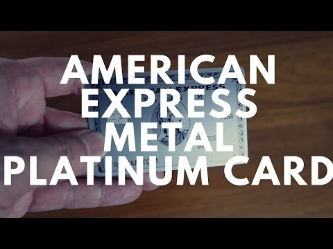 A Quick Look ► The New Metal AMEX Platinum Card!