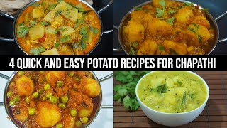 4 Quick and Easy Potato Recipes for Chapathi - Aloo Recipes For Chapathi