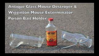 "Antique 1918 & 1924 Glass ""Mice Control Devices"""