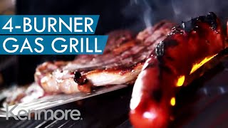 Kenmore 4-Burner Gas Grill - For Every Backyard Cookout