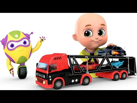 Car Toys Loader Truck Videos | Learn Colors | Kids Toys | Surprise Eggs Toy Unboxing By Jugnu Kids