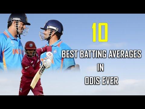 10 Best Batting Averages in ODIs ever