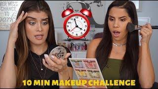 GRWM: 10 Minute Makeup Challenge Fail ft Sophia Perez   CATANO GLAM ENGLISH