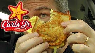 Carl's Jr Cinnamon Swirl French Toast Breakfast Sandwich Review