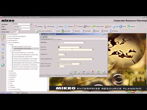 03.002 IN MIKRO ERP HOW TO DEFINE SALES CASH BOX