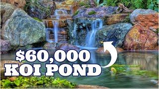 Large BOULDER POND *$60,000 KOI POND*