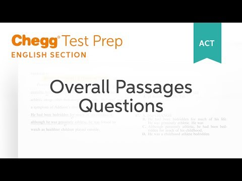 ACT English Overall Passage Questions - Chegg Test Prep - YouTube