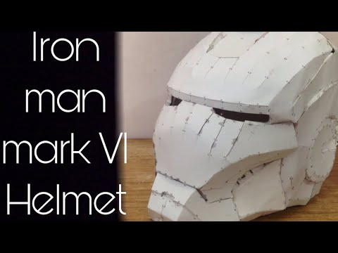 How to make Iron Man mark VI Helmet | Stop motion assembly | Prop Marvel