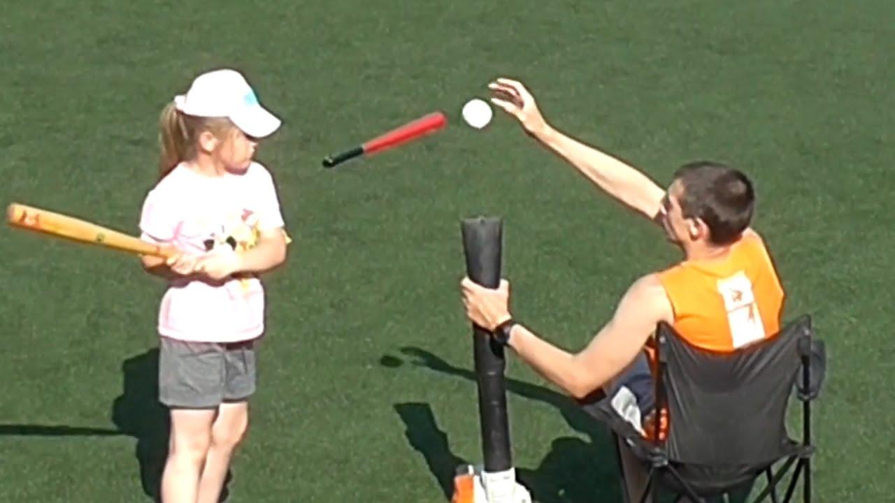 Man Uses Leaf Blower For Baseball Practice