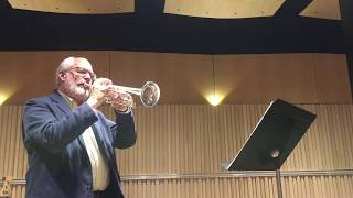 Mark Adler plays from the Allen Vizzutti Trumpet Method, now included in SmartMusic.