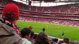 No minuto final Grande Golo Sálvio com contestação adeptos Benfica x Tondela