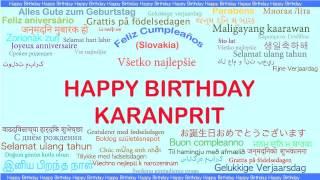 Karanprit   Languages Idiomas - Happy Birthday