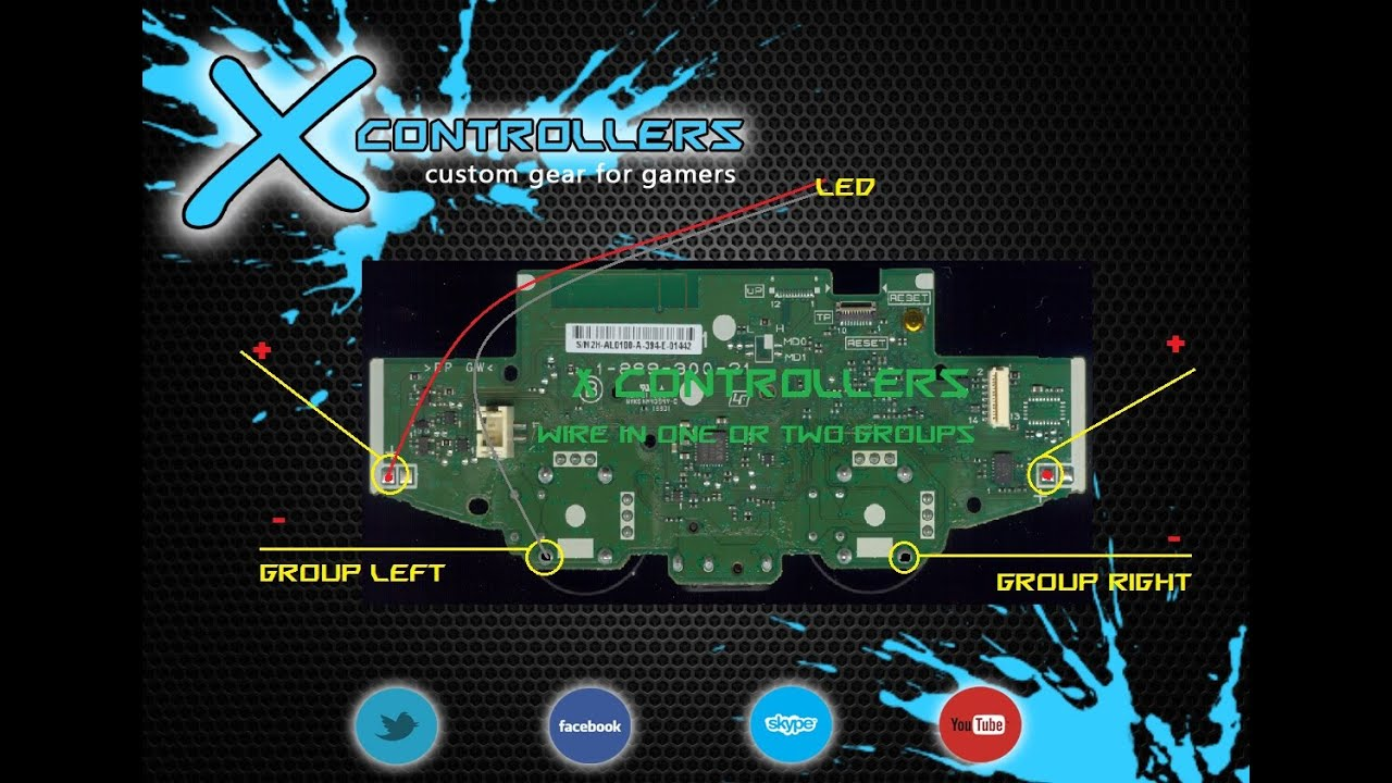 Ps4 How To Led Mod Your Controller Custom Mods Youtube Ps2 Usb Wiring Diagram