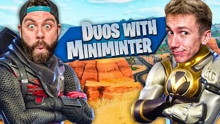 Hilarious DUOs with MINIMINTER!!!! WE GET A WIN!!! Fortnite: Battle Royale SEASON 5