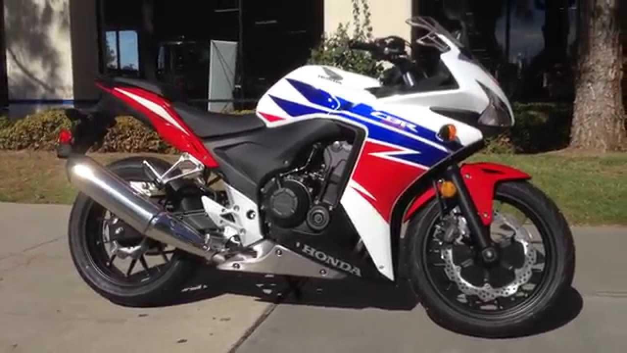 2014 Honda CBR500R White Tricolor - YouTube