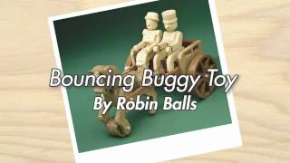 Bouncing Buggy Toy - Finished Woodworking Project In Action