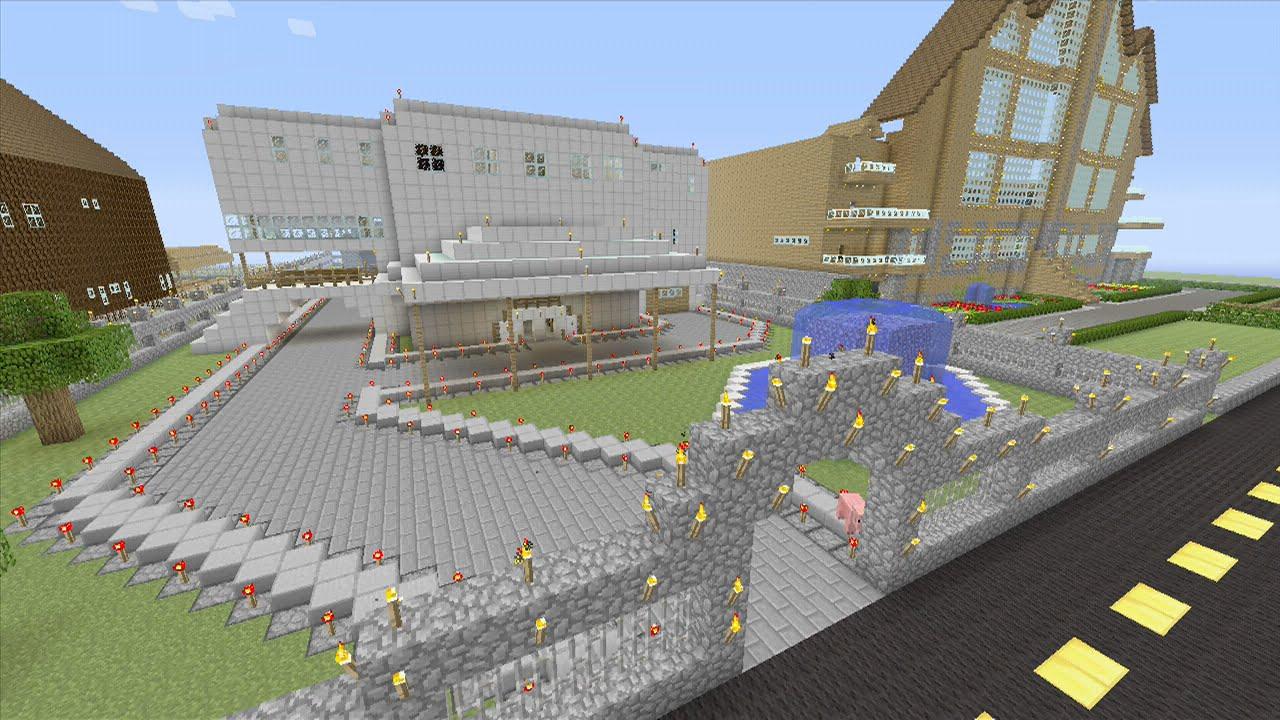 Minecraft house tour modern white mansion